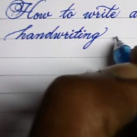 How to write neat cursive handwriting